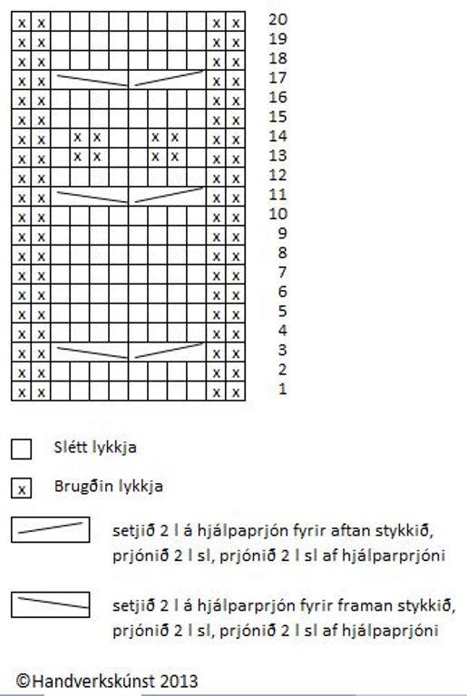 Uglumunstur maíu vettlingar íslenskt_stækkaður